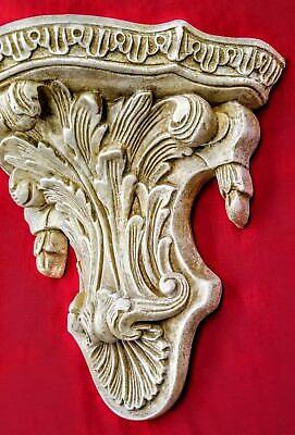 Vintage Shelf Acanthus leaf Tassel Wall Corbel Sconce Bracket 4