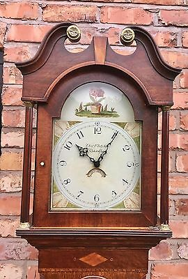Oak And Mahogany Banded Longcase/grandfather 30 Hour By Tho Fletcher  Barnsley