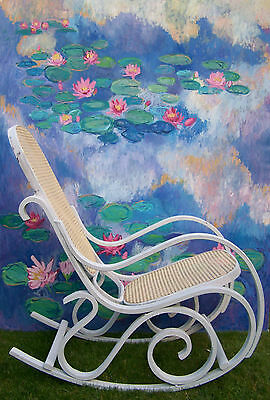 Antique French Rocking chair bergere chair nursing chair shabby chic vintage 6