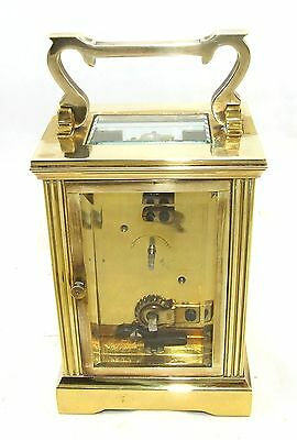 MAPPIN & WEBB Brass Carriage Mantel Clock Timepiece with Key  Working Order (61) 8