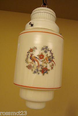 Vintage Lighting 1930s porcelain glass pendant by Porcelier   More Available 2