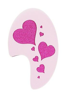 Hearts Design Face Painting Stencil approx 12cm x 8cm Washable and Reusable