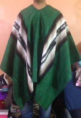 Luxury Inka Treasure Alpaca Wool Poncho-Cape, Handmade, Unisex. Warn & Softness 5