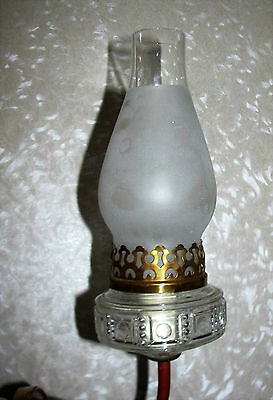 VTG DECO GLASS SHADE SCONCE CHANDELIER WALL FIXTURE 1930's 3