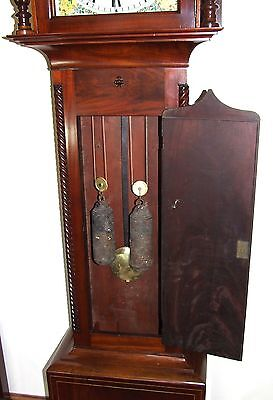 * Antique Inlaid Mahogany Longcase Grandfather Clock THOMAS DE GRUCHY JERSEY 9
