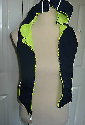 BNWT Childrens B'Rep Neon Yellow Reversible Hooded Gilet. Age 5,6,7 Years 2