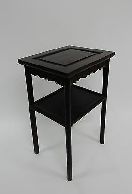 Gorgeous Antique Chinese Zitan Two tier  Wood Side Table RARE!!  28 inches 4