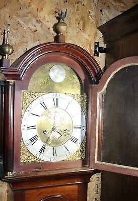 1788 Brass Face 8 Day Grandfather Clock by-Hector Simpson of London 4