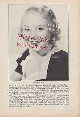 Werbung 1937, Bildnis Portrait Fotografie Eiskunstlauf Sonia Häseken Henie 5