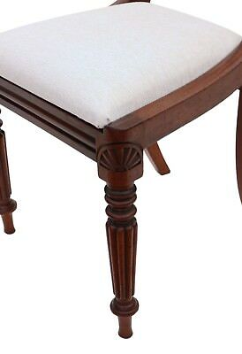 Antique quality set of 4 William IV mahogany bar back dining chairs C1835 4862 8