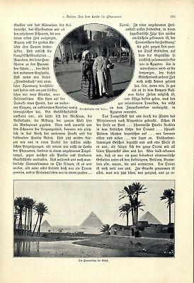 H.v.Gehlen Ägypten Aus dem Lande der Pharaonen El Kantara Kairo Giseh Karnak1904 2