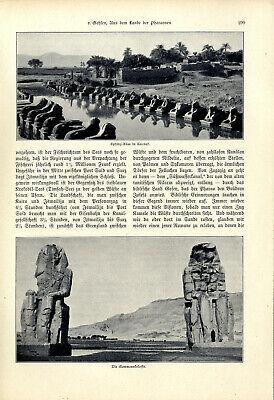 H.v.Gehlen Ägypten Aus dem Lande der Pharaonen El Kantara Kairo Giseh Karnak1904 6