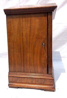 ~ Antique Architectural LENZKIRCH Walnut TING TANG Bracket Mantel Clock WORKING 7