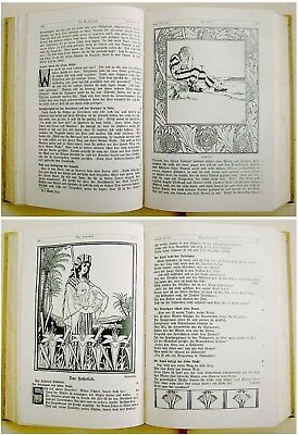 1912 SIGNED Bezalel LILIEN Luther BIBLE Jewish ART BOOK Art Nouveau JUGENDSTIL 8
