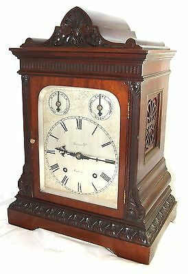 Winterhalder W & H Antique Mahogany TING TANG Bracket Mantel Clock CLEAN SERVICE 2