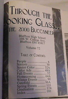 Buffton college Ohio Ista Yearbook 2000 Through The Looking Glass 2