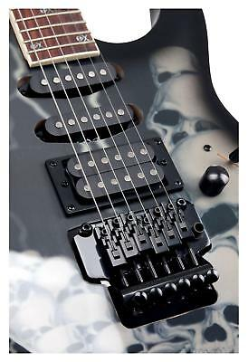 Rocktile Heavy Metal Skull E-Gitarre 2 Single Coil Humbucker FR Style Tremolo