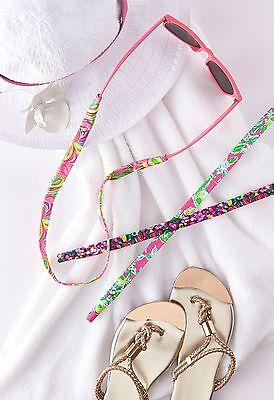 8739e4f42c ... LILLY PULITZER Sunglass Strap ALL NIGHTER Flamingo Cotton Sunglasses  Croakies N 5