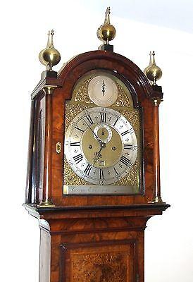 Antique Walnut  MONTH DURATION Longcase Grandfather Clock Etherington LONDON 3