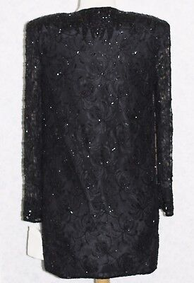 JASDEE Vintage Sheer Long Sleeve Jacket Hand Work Beading On Lace Style 141 2