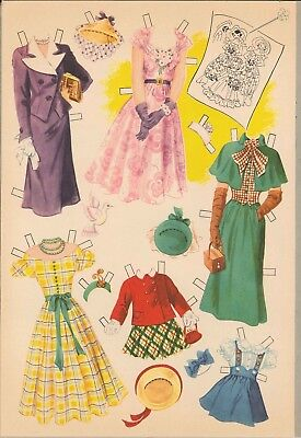 VINTGE 1939 REAL SLEEPING PAPER DOLL LASR REPRODUCTIN~UNCT LO PR NO1 SELLR