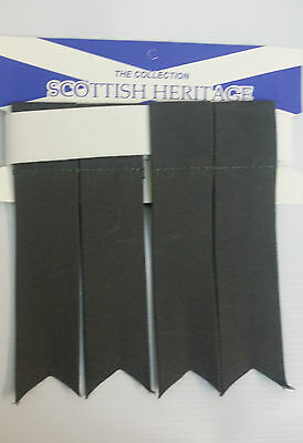 Plain Grey Sock Flashes 4 Sporrans & Kilts 3