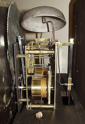 Antique Mahogany Halifax Moon Longcase Grandfather Clock by Thomas DEAN of LEIGH 11