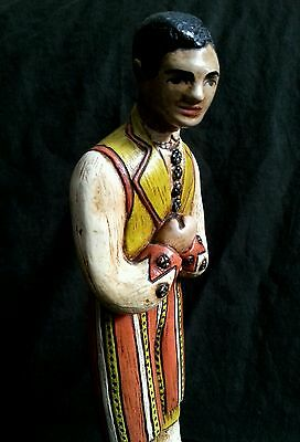 """Vintage hand made chalkware figurines in national costumes 10.5"""" S.America Euro 3"""