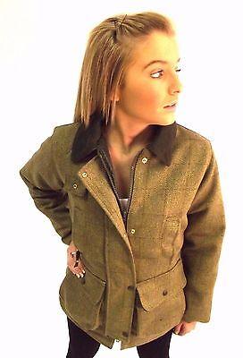 4 sur 7 Campbell Cooper veste femmes chasse pêche équitation tir tweed vert  neuf 84a1ef565293