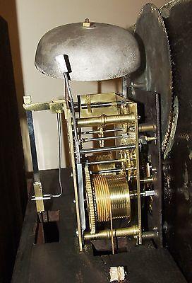 Antique Mahogany Halifax Moon Longcase Grandfather Clock by Thomas DEAN of LEIGH 12