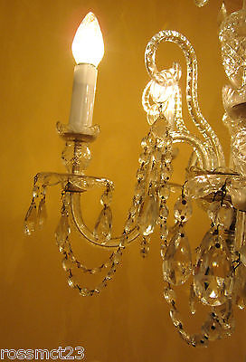 Vintage Lighting high quality Czech crystal chandelier by Weiss and Biheller 11