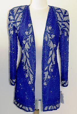 "Jasdee Vintage Jacket Hand Work Beading Length 32""Long SheerSleeve On Silk #3012 2"