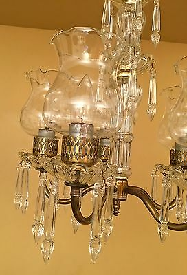 Vintage Lighting 1940s petite crystal chandelier 4 • CAD $1,195.43
