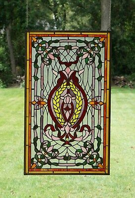 """20.5"""" x 34.75"""" Stunning Decorative Tiffany Style stained glass panel"""