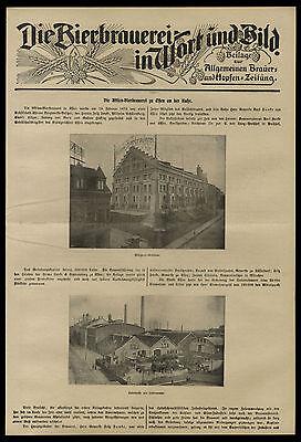 Historisches Dokument von 1904 Die Aktien-Bierbrauerei zu Essen an der Ruhr 2