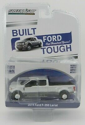 1:64 GreenLight *ANNIVERSARY COLLECTION* Silver 2019 Ford F350 Dually Pickup NIP 2