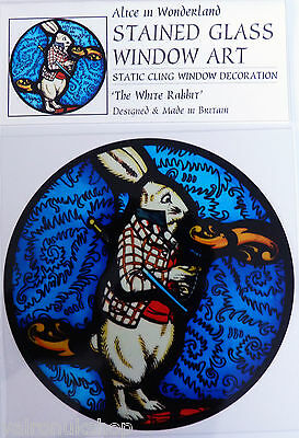 STATIC CLING  DECORATION COLLIE AND LAMBS STAINED GLASS WINDOW ART