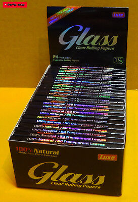 10 / 5 / 3 / 1 St. GLASS 1¼ Clear Rolling Paper, 100% BIO !! TOP PREIS !!