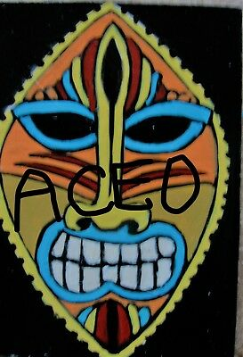 """A872  NEW -    ORIGINAL ACRYLIC ACEO PAINTING BY LJH    """"MASK""""  One-Of-A-Kind 5"""