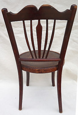 Art Nouveau Child Chair Fichel Bentwood Print Seating Factory Label 3