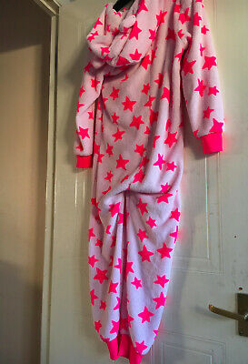 Next, Girls', Pink, Lounge, Fleece  All-in-One, 134cm, Age 9 Yrs 2