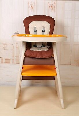 FoxHunter Baby Highchair Infant High Feeding Seat 3in1 Toddler Table Chair New 3