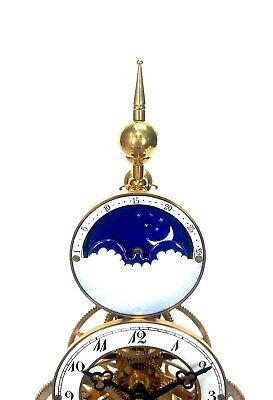 24K Vienna Style Pinwheel Moon Dial Calendar 8 Day Fusee Chain Skeleton Clock 5