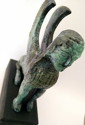 Ancient Greek Bronze Museum Statue Replica Of Minoan Griffon (1699) 8