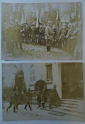 RARE Orig Photo LOT WWI German Soldier Hindenburg 1916 Ludendorff Kaiser Wilhelm 11