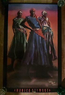 Chilling by Monica Stewart African American Art Print 16x12