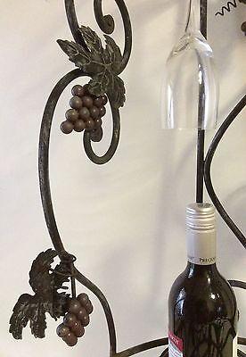 Decorative 7 Bottle/4 Glass Steel Wine Rack 5