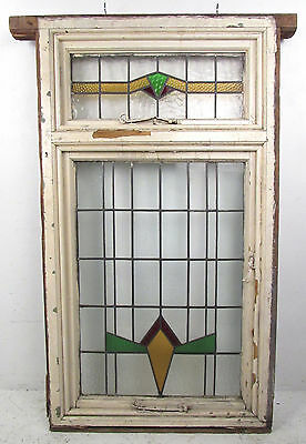 Large Vintage Stained Glass Window (2940)NJ 3