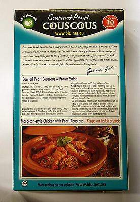 Blu Gourmet Pearl Couscous 250g, 100% Natural, Kosher, Recipes inside 3