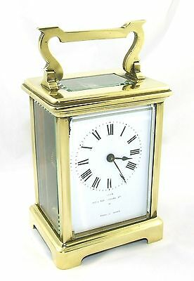 Antique Brass & Bevelled Glass Carriage Clock JAYS 142 & 144 OXFORD ST. W  (46) 3